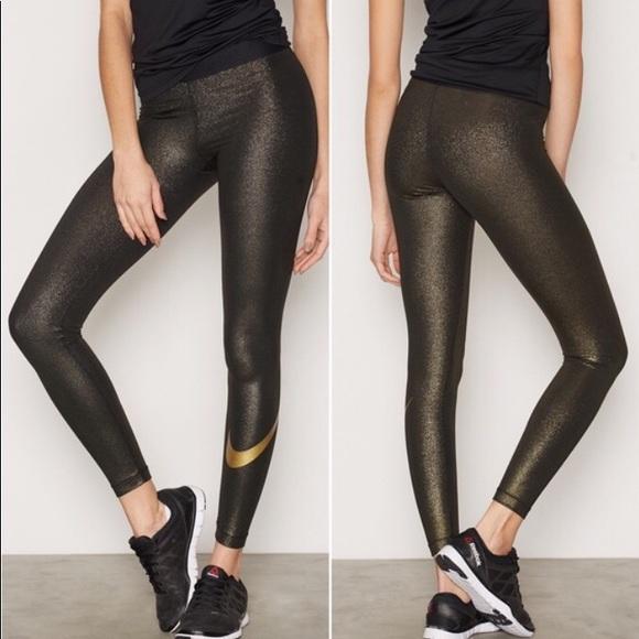 36246936416e Black and gold sparkle leggings. M 5ab1ac211dffda779e56a605